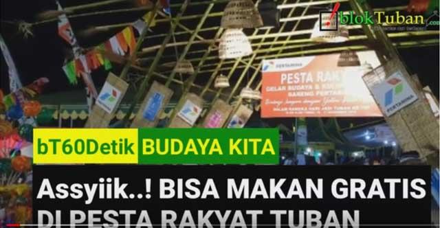 Wow!! Bisa Makan Gratis di Pesta Rakyat Tuban