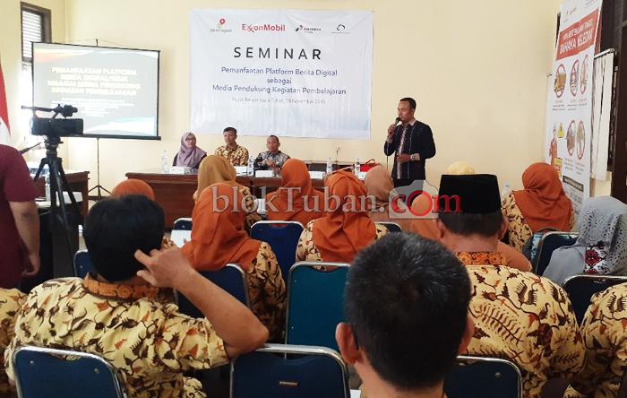 EMCL Gelar Seminar Pemanfaatan Platform Berita Digital Kepada PBG Tuban
