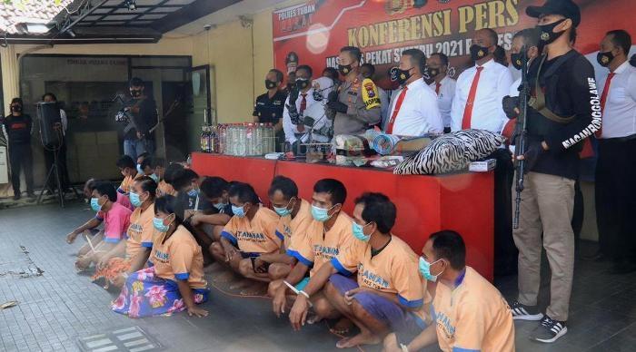 Gelar Operasi Pekat Semeru, Polres Tuban Jaring 131 Tersangka