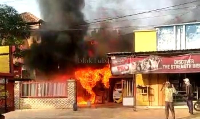 Bengkel di Bancar Ludes Terbakar, Ini Dugaan Penyebabnya