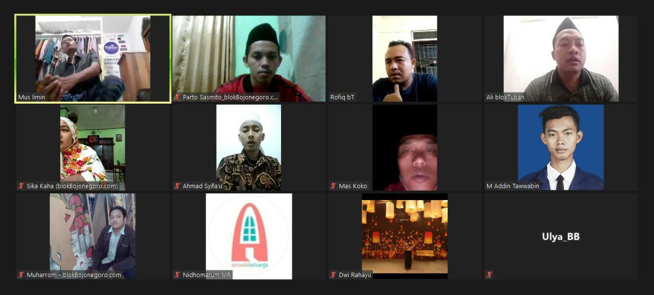 Keluarga Besar BMG Tahlil dan Doa Secara Virtual untuk Almarhum Mas Muha